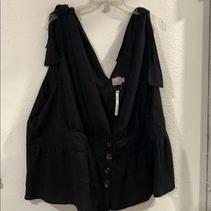ASOS black vest NWT